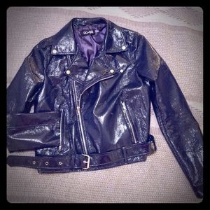Patton leather motorcycle jacket